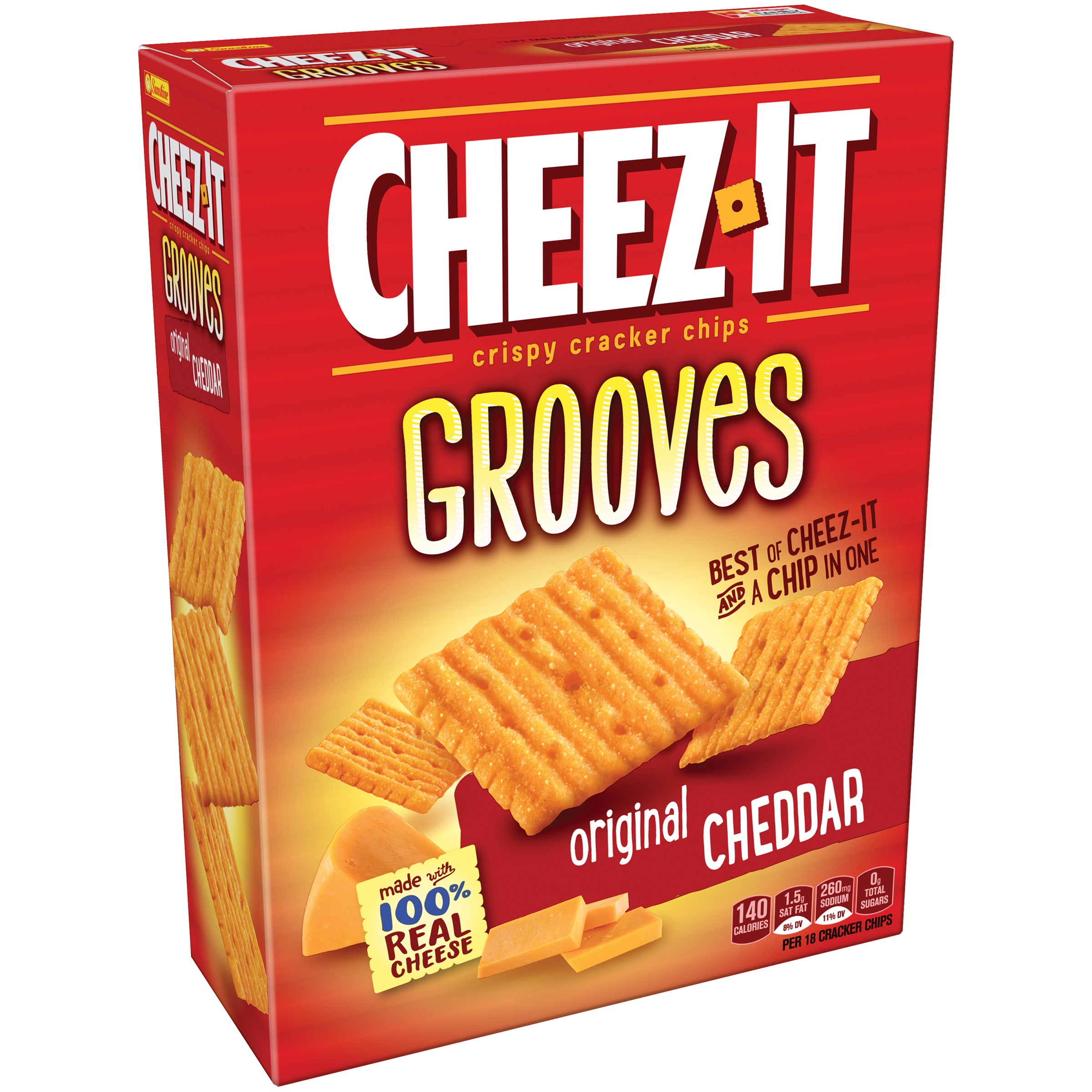 (2 Pack) Cheez-It Grooves Baked Snack Crackers Original 9 oz