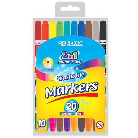 New 400043   10 Double- Tip Washable Markers (24-Pack) Markers Cheap Wholesale Discount Bulk Stationery Markers](Cheap Xray Markers)