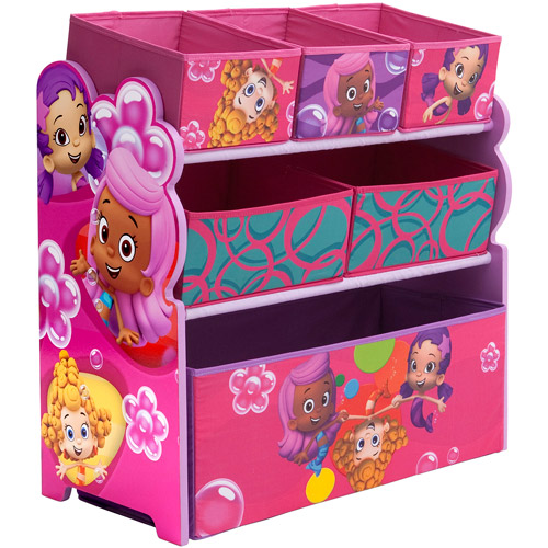 Delta Nickelodeon Bubble Guppies Multi-Bin Toy Organizer, Pink