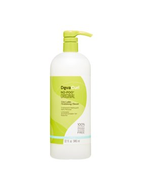 ($46 Value) Devacurl No-Poo Original Shampoo Zero Lather Conditioning Cleanser, 32 Oz
