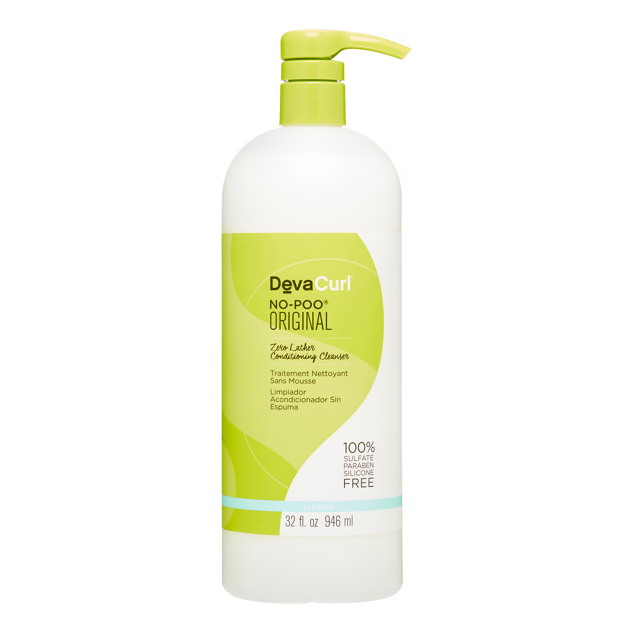 Devacurl No Poo Conditioning Cleanser, 32 Oz