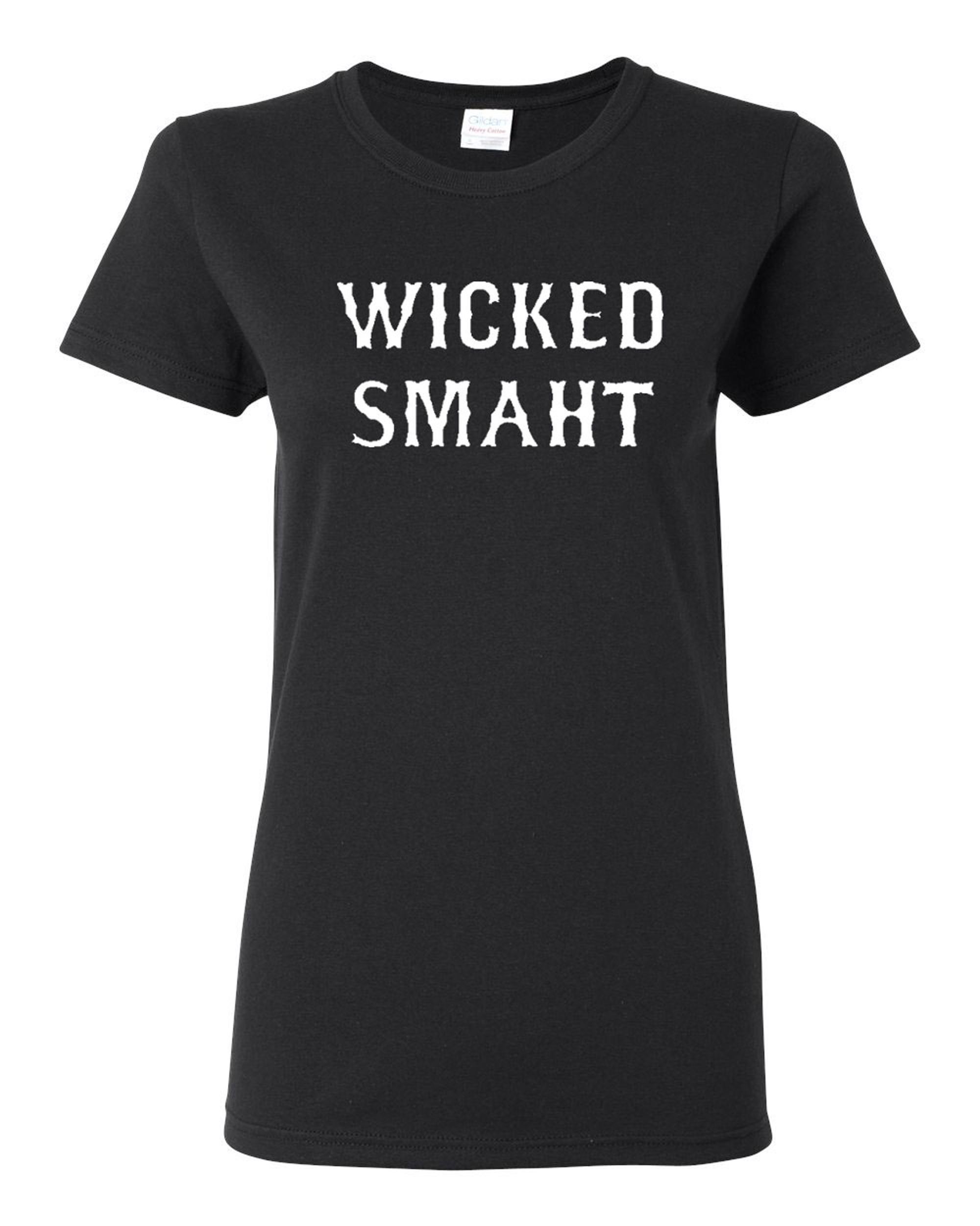 Ladies Wicked Smaht Funny T-Shirt Tee