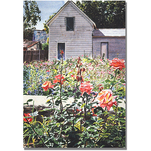 "Trademark Art ""Rose Garden"" Canvas Wall Art by David Lloyd Glover"