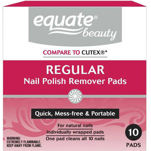 Equate Nail Polish Remover Pads, 10 count