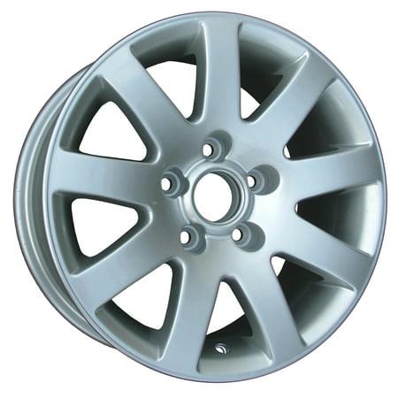 - 2001-2005 Volkswagen Passat  15x7 Aluminum Alloy Wheel, Rim Sparkle Silver Full Face Painted - 69770