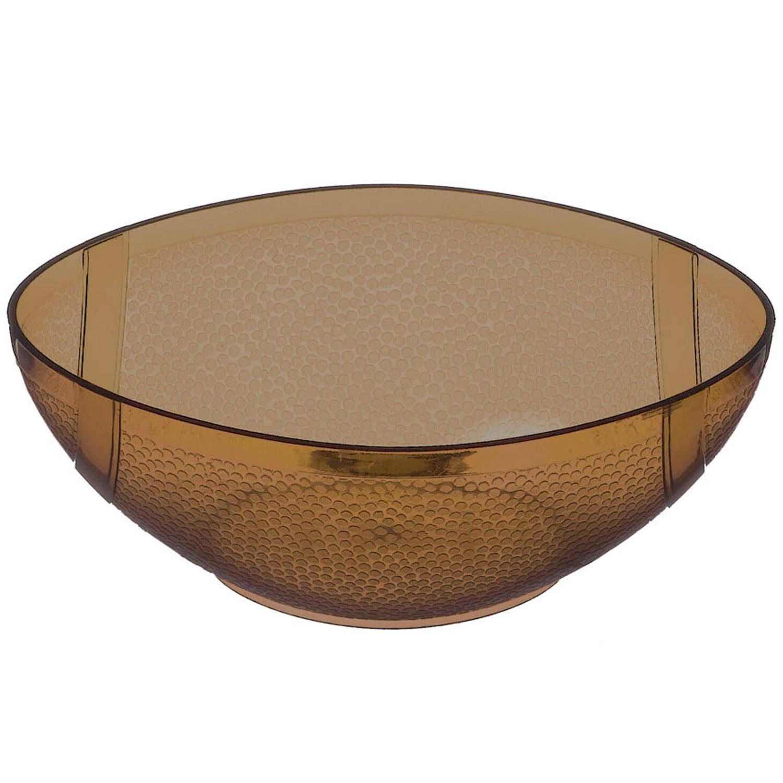 "Amscan Football Shaped Chip Dip 5.25"" Serving Bowl, Transparent Brown"