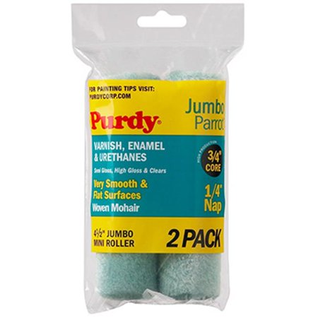 Purdy 140624040 4.5 x 0.25 in. Parrot Jumbo Mini Roller Cover - 2 Pack - image 1 de 1