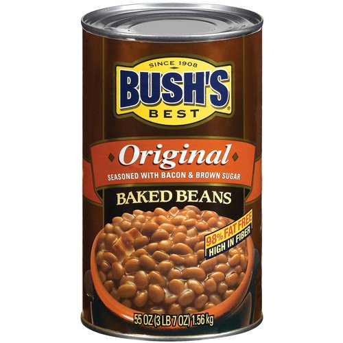 Bush's Best Original Seasoned Baked Beans With Bacon And Brown Sugar, 55 oz by Bush Brothers & Co.