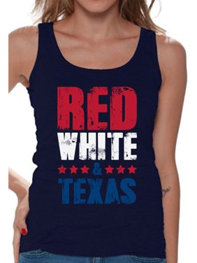 79a6f87e8b312 Product Image Awkward Styles Red White   Texas Tank Top for Women Texas Sleeveless  Shirts 4th of July