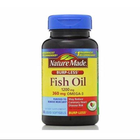 Nature Made Fish Oil 1200 Mg Burp Less Liquid Softgels