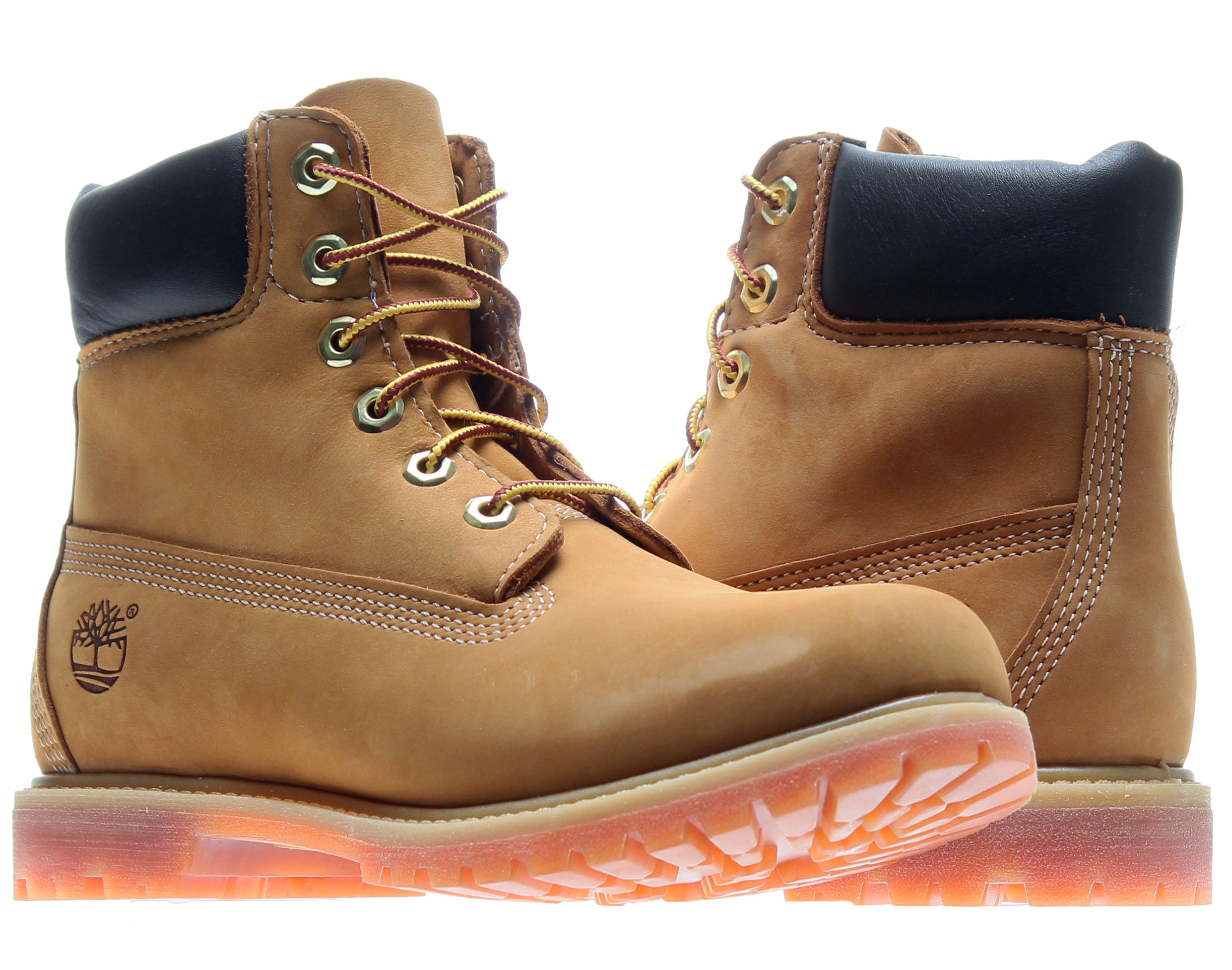 Timberland 6 In Prem Women Round Toe Leather Tan Work Boot by Timberland