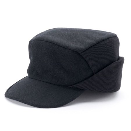 Croft & Barrow Men Solid Wool Blend Driver Cap Black Mens Wool Caps