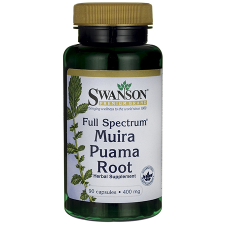 40 Mg 90 Capsules - Swanson Full-Spectrum Muira Puama Root Capsules, 400 mg, 90 Ct