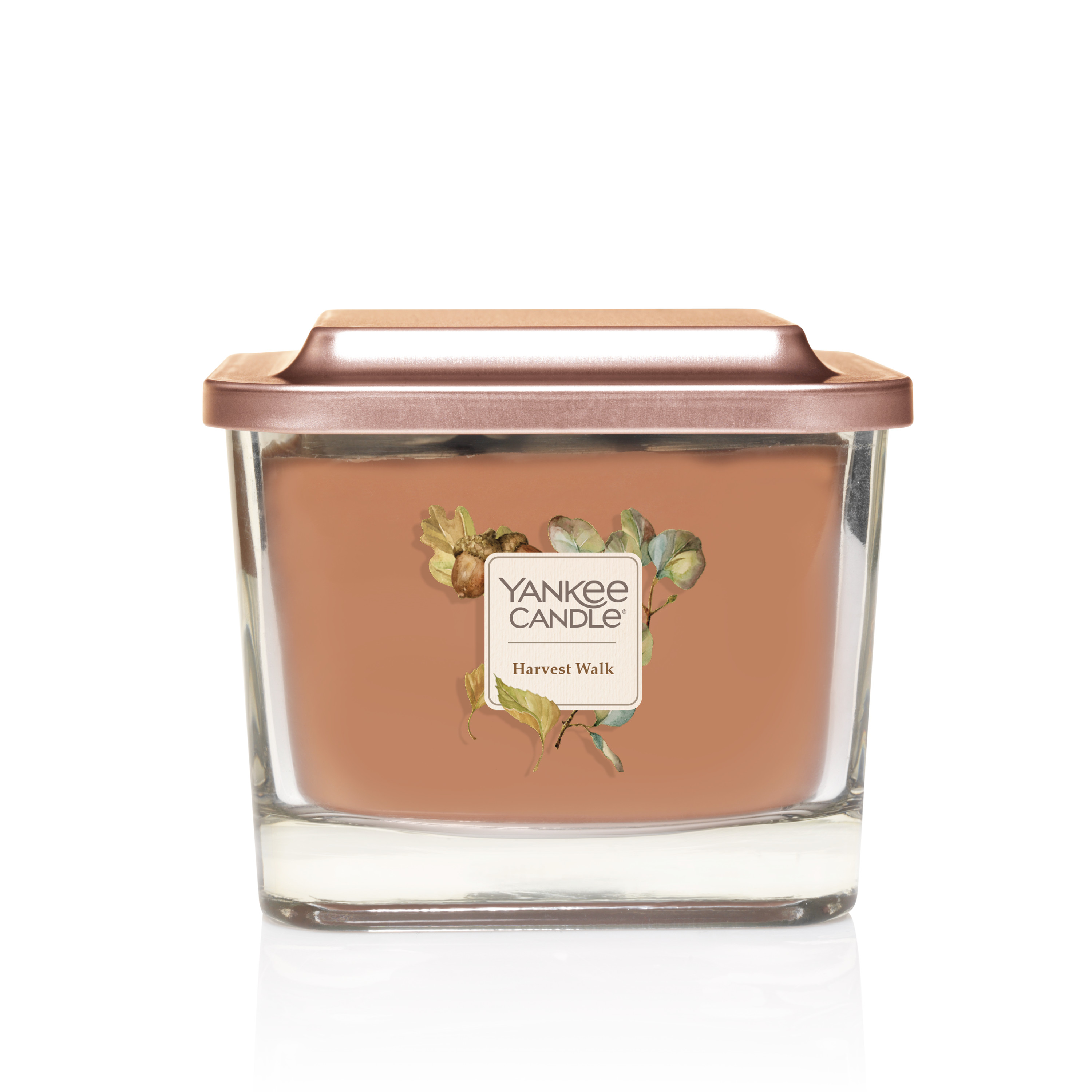 Yankee Candle Elevation Collection with Platform Lid Medium 3-Wick Square Candle, Harvest Walk