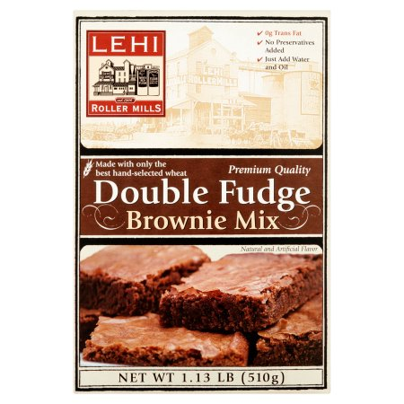 Lehi Roller Mills, Brownie Mix, Double Fudge (Pack of 12)