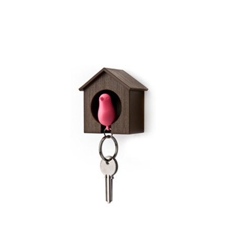 Likable Bird Nest Sparrow House Key Chain Ring Whistle Wall Hook -