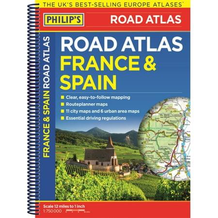 Philips france & spain road atlas: 9781849074322 (Road Map Spain)