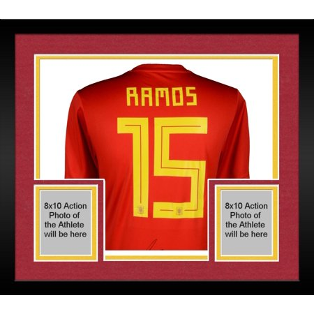 huge selection of b40df 21330 Framed Sergio Ramos Spain Autographed Adidas Red Home Jersey - Fanatics  Authentic Certified - Walmart.com