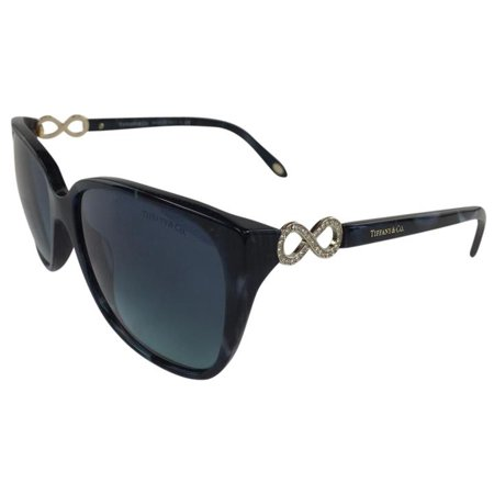 Tiffany & Co TF 4111-B 8200/9S Blue Black Gold Plastic Sunglasses 57mm