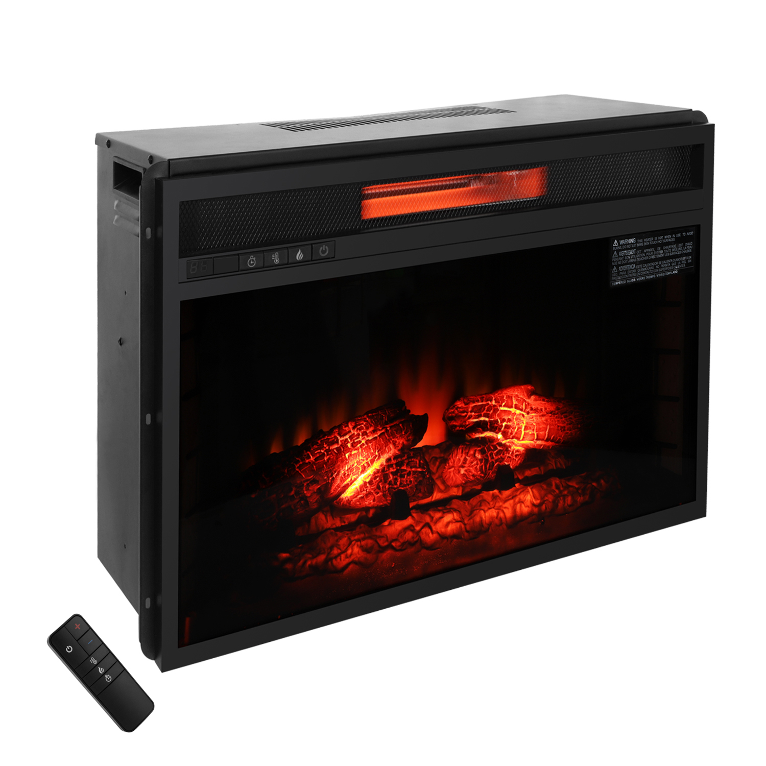 """Ktaxon 1500W 26"""" Electric Fireplace,Electric Fireplace Heater for Home,Flame Electric Fireplace"""