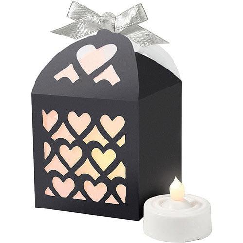 Paper Lntrn Favor Box Blk 50ct