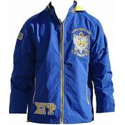 Big Boy Sigma Gamma Rho Divine 9 S3 Ladies Hooded Windbreaker Jacket [Royal Blue - M]