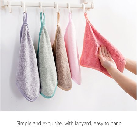 Kitchen Dish Cloth Cleaning Cloth Hanging Wash Cloths Household Washing Towels Special Absorbent Kitchen Cleaning Tool - image 4 of 7