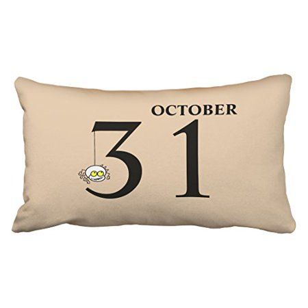 WinHome Fun Cartoon Spider Happy Halloween October 31st Fashion Polyester 20 x 30 Inch Rectangle Throw Pillow Covers With Hidden Zipper Home Sofa Cushion Decorative Pillowcases - 31st October 2017 Halloween