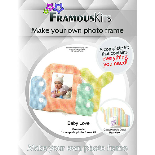 "Baby Love Framous Plastic Canvas Kit, 2"" x 2.6"", 10 Count"