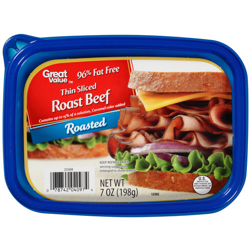 Great Value Deli Sliced Roast Beef, 7 oz
