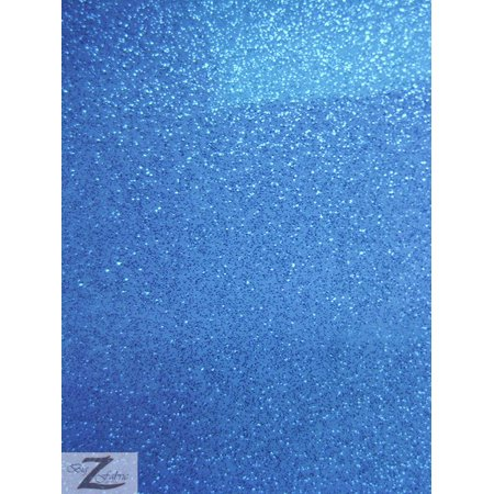 Vinyl Faux Fake Leather Sparkle Glitter Fabric / Royal Blue / Sold By The Yard (New Royce Leather)
