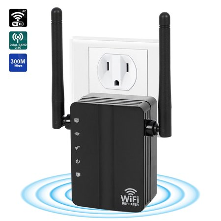TSV WiFi Range Extender with WPS Internet Signal Booster - Wireless WIFI Repeater 2.4GHz Band Up to 300 Mbps - Router and Mini AP Access Point with Double External Antennas