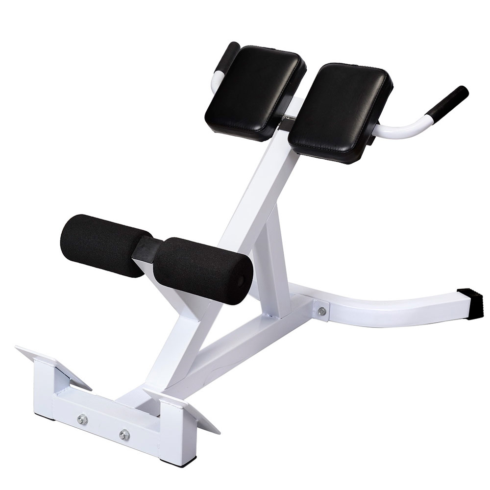 UBesGoo Adjustable Roman Chair Hyperextension Machine, 45 Degree Abdomial  Back Extension Workout Strength Training Bench