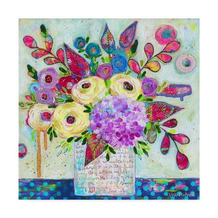 Trademark Fine Art 'Love Letter Vase 3' Canvas Art by Vicki Mcardle (Love Letter Art)
