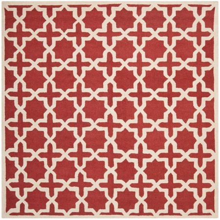 Safavieh Cambridge 4' X 6' Hand Tufted Wool Rug in Rust and Ivory - image 2 de 8