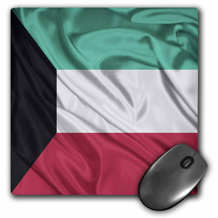 3dRose Kuwait Flag, Mouse Pad, 8 by 8 inches