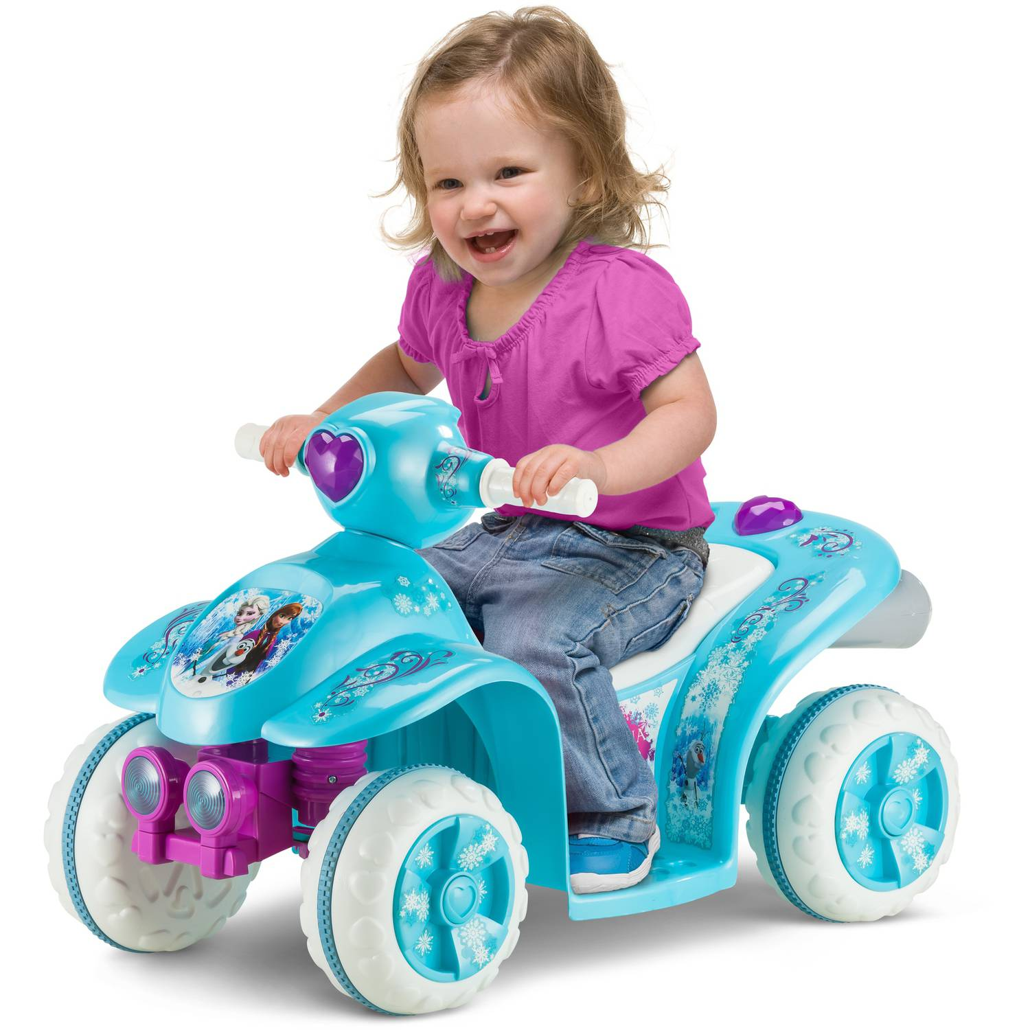 Kid Trax Disney Frozen 6V Battery Powered Quad, Blue
