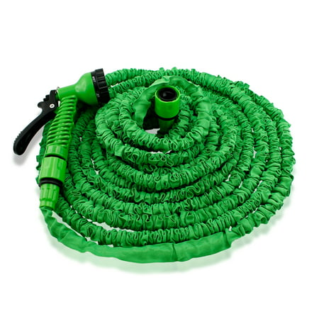 Green Kilt Hose (Expandable Flexible Stronger Deluxe Garden Water Hose w/ Spray)