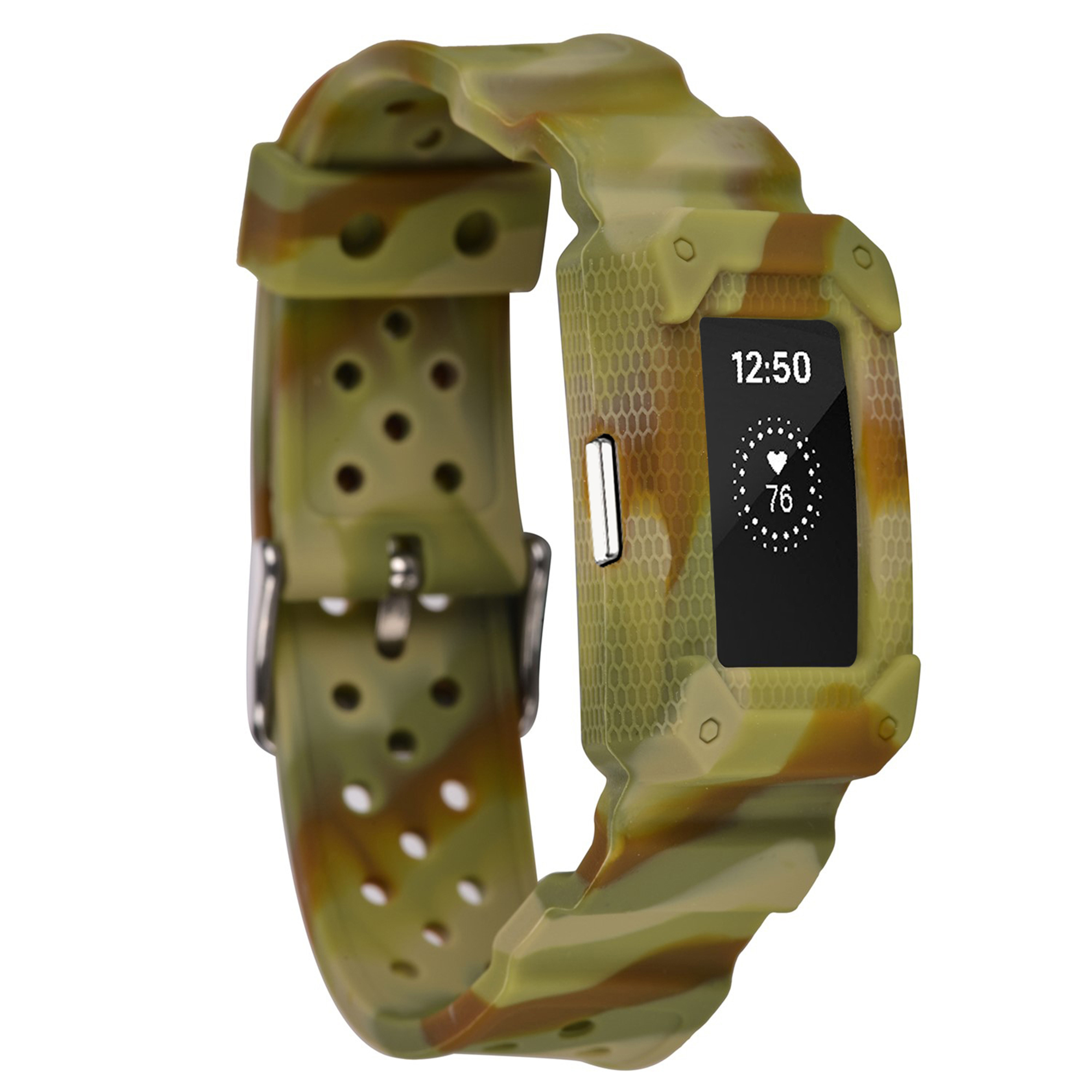 Moretek for Fitbit Charge 2 bands,Fitbit Charge 2 HR Strap(YellowCamo)