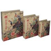 3-Pc Peacock Book Box