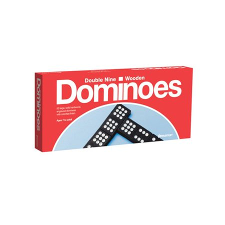 TOY Double Nine Dominoes, 55 large, solid hardwood dominoes By Pressman