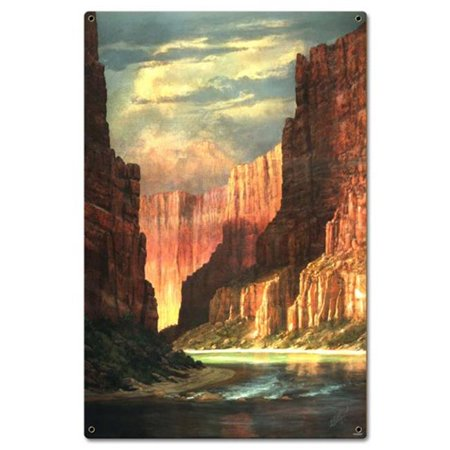 Hermon Adams Colorado River Satin Metal Sign - 16 x 24 in.