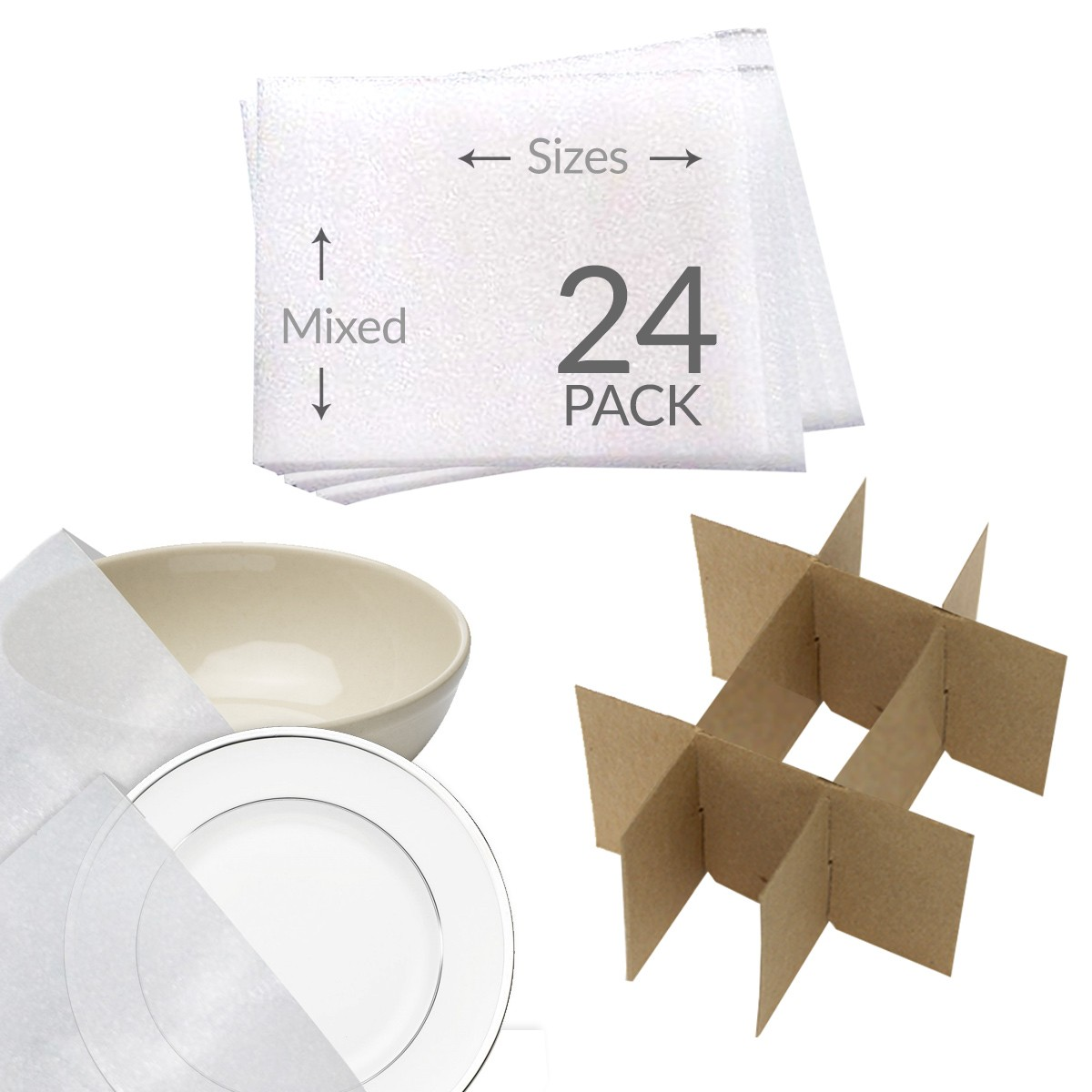 Moving Supplies Foam Wrap Dish Cell Divider Kit Amp Foam Pouches
