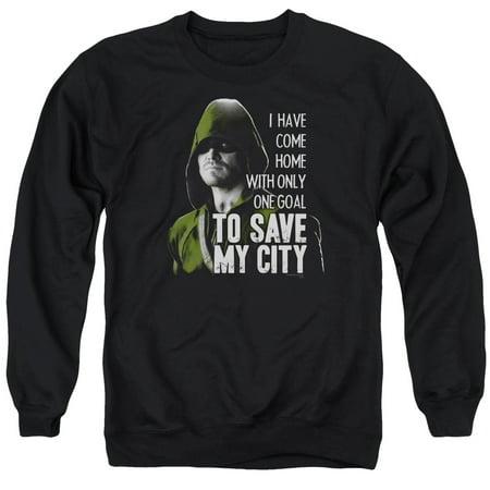 Arrow CW Superhero TV Save My City Crewneck Sweatshirt (Cw Arrow Hoodie)