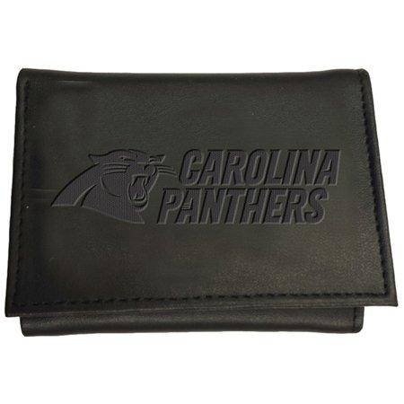 Panthers Large Leather (Carolina Panthers Hybrid Tri-Fold Wallet - Black - No)