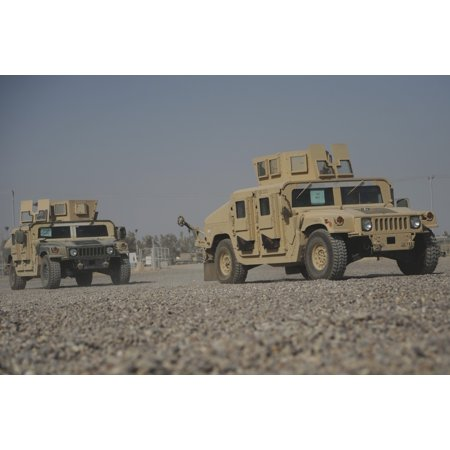 August 9 2008   Two M1114 Humvee Vehicles Are Turned In To The Redistribution Property Assistance Team At Camp Taji Iraq Poster Print