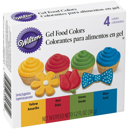 Wilton Gel Food Color Set, Primary - Walmart.com
