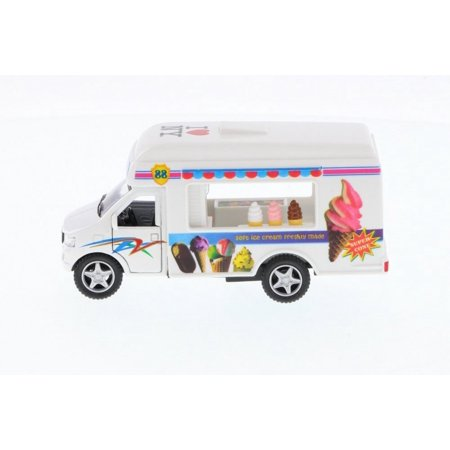 I Love New York Ice Cream Truck, White - Kinsmart 5253W-ILNY -  Diecast Model Toy Car for $<!---->