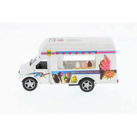 I Love New York Ice Cream Truck, White - Kinsmart 5253W-ILNY -  Diecast Model Toy (New York Cream Cheesecake)