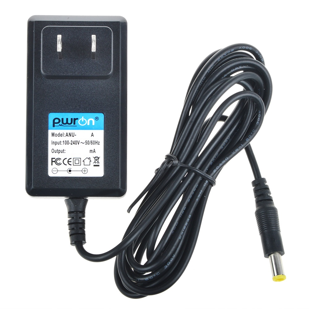 PwrON 6.6 FT Long 12V AC to DC Travel Adapter Charger For Sony DVDirect VRD-MC3 VRD-MC5 VRD-VC30 DVD Recorder